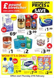 Catalogue of offers Poundstretcher