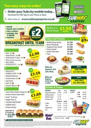 Catalogues with Subway offers in London