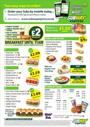 Catalogues with Subway offers in Manchester