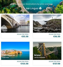 Travel offers in the Aer Lingus catalogue in London ( 1 day ago )