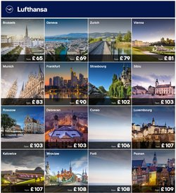 Travel offers in the Lufthansa catalogue ( 9 days left)