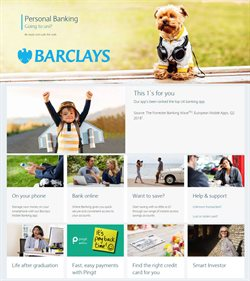 Banks offers in the Barclays catalogue in Enfield