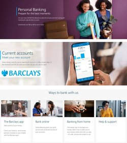 Banks offers in the Barclays catalogue in London ( More than a month )