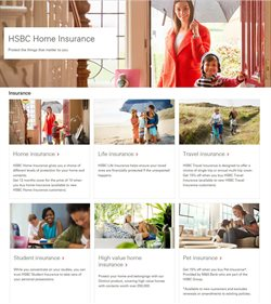 Insurance offers in the HSBC catalogue in London