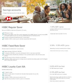 Banks offers in the HSBC catalogue in London ( 10 days left )