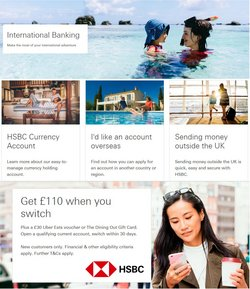 Banks offers in the HSBC catalogue ( More than a month)
