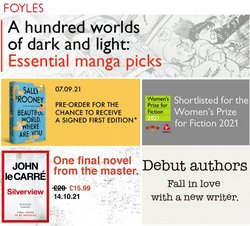 Books & Stationery offers in the Foyles catalogue ( 11 days left)