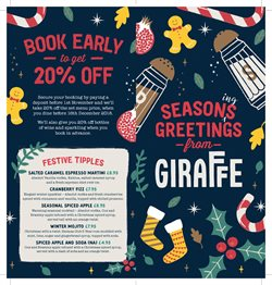 Giraffe offers in the London catalogue