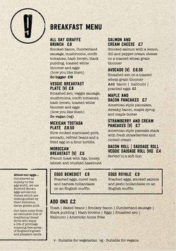 Restaurants offers in the Giraffe catalogue ( 27 days left)