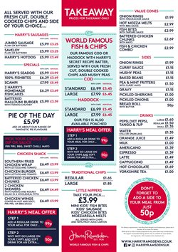 Restaurants offers in the Harry Ramsden's catalogue in Enfield