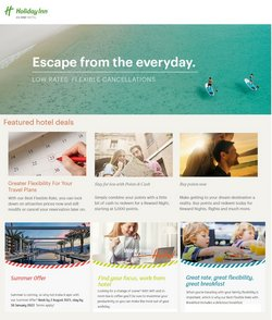 Travel offers in the Holiday Inn catalogue ( 23 days left)