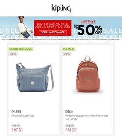 Kipling offers in the Kipling catalogue ( Expires today)