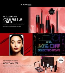 Pharmacy, Perfume & Beauty offers in the MAC Cosmetics catalogue ( Published today)