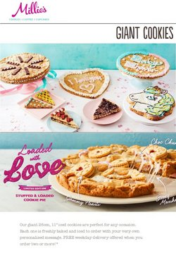 Restaurants offers in the Millie's Cookies catalogue ( 19 days left)
