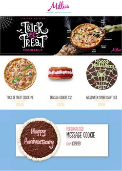 Restaurants offers in the Millie's Cookies catalogue ( Published today)