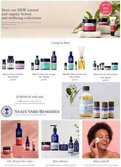 Pharmacy, Perfume & Beauty offers in the Neal's Yard catalogue ( Published today)
