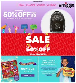 Toys & Babies offers in the Smiggle catalogue ( 9 days left)