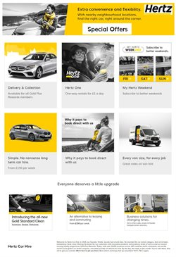 Cars, Motorcycles & Spares offers in the Hertz catalogue in Cannock ( 5 days left )