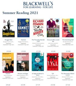 Books & Stationery offers in the Blackwell's catalogue ( 24 days left)
