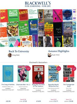 Books & Stationery offers in the Blackwell's catalogue ( 1 day ago)