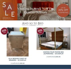 And So To Bed offers in the And So To Bed catalogue ( 4 days left)