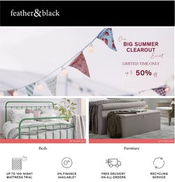 Feather & Black offers in the Feather & Black catalogue ( Expires today)
