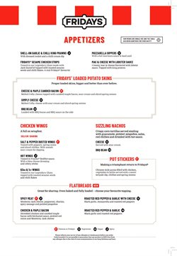 Restaurants offers in the T.G.I. Friday's catalogue in Glasgow ( 25 days left )