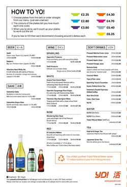 Beer offers in the Yo! Sushi catalogue in York