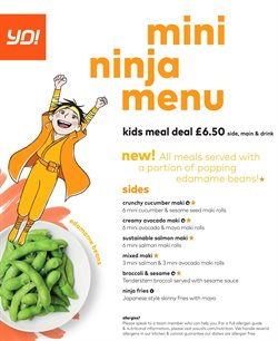 Yo! Sushi offers in the Liverpool catalogue