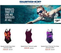 Sport offers in the Swim Shop catalogue ( 2 days left)
