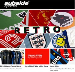 Subside Sports offers in the Subside Sports catalogue ( 8 days left)