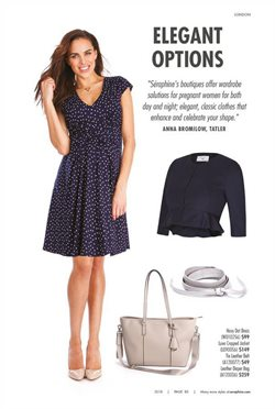 Handbag offers in the Seraphine catalogue in London