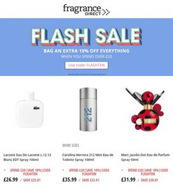 Pharmacy, Perfume & Beauty offers in the Fragrance Direct catalogue ( Expires today)