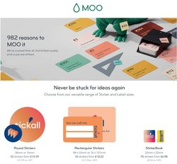 Books & Stationery offers in the MOO catalogue ( 8 days left)