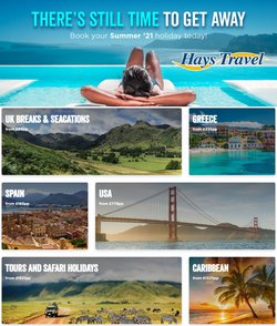 Hays Travel offers in the Hays Travel catalogue ( 8 days left)