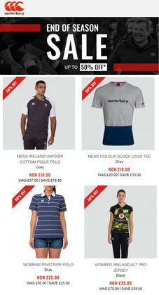 Canterbury offers in the Canterbury catalogue ( 18 days left)