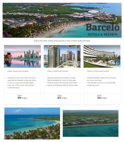 Santa offers in the Barcelo Hotels catalogue ( Expires today)