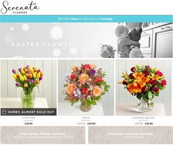 Easter offers in the Serenata Flowers catalogue ( 16 days left)