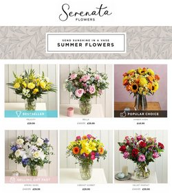 Home & Furniture offers in the Serenata Flowers catalogue ( More than a month)