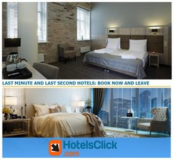 Hotels Click offers in the Hotels Click catalogue ( 12 days left)