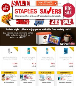Offers of Notebooks in Staples