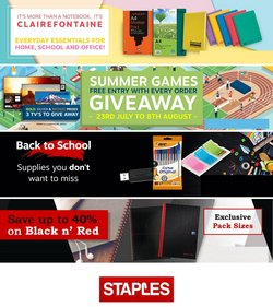 Staples offers in the Staples catalogue ( Published today)