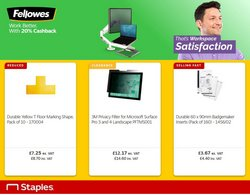 Electronics offers in the Staples catalogue ( Expires today)
