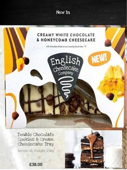 The English Cheesecake Company offers in the The English Cheesecake Company catalogue ( Expires today)