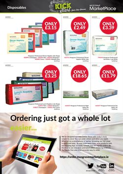 Laptop offers in the Musgrave MarketPlace catalogue in London