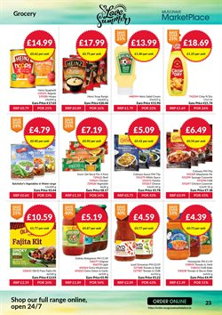 Gel offers in the Musgrave MarketPlace catalogue in London