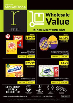 Supermarkets offers in the Musgrave MarketPlace catalogue in Belfast ( 15 days left )
