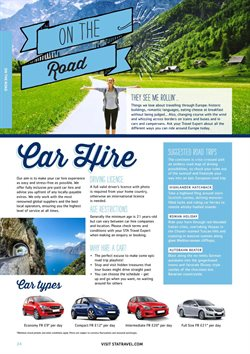Car hire offers in the Sta Travel catalogue in London