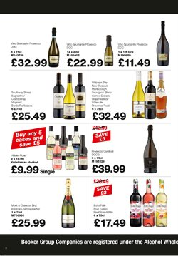 Champagne offers in the Booker Wholesale catalogue in London