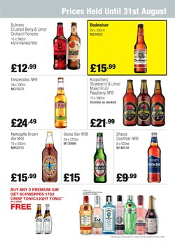Gin offers in the Booker Wholesale catalogue in London